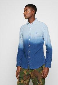 Polo Ralph Lauren - INDIGO SOLID - Košile - blue dip dye - 2