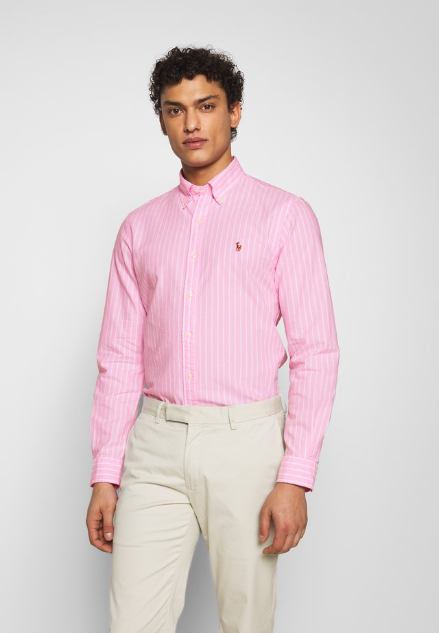 OXFORD SLIM FIT - Skjorta - pink/white