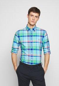 Polo Ralph Lauren - OXFORD SLIM FIT - Košile - green/blue - 0
