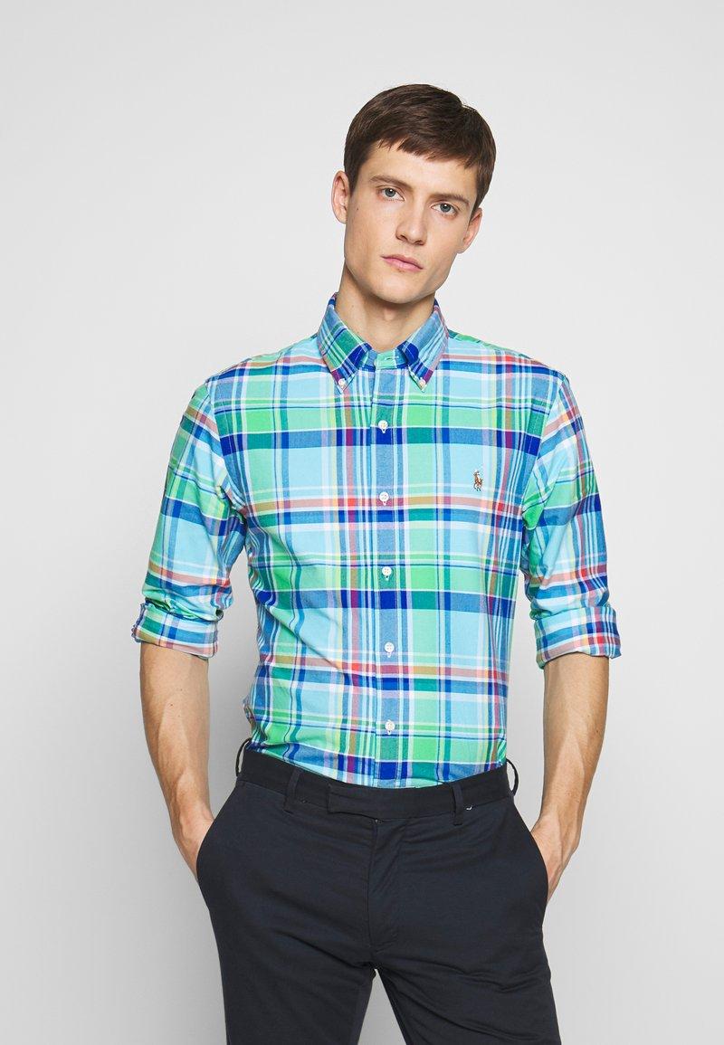 Polo Ralph Lauren - OXFORD SLIM FIT - Košile - green/blue