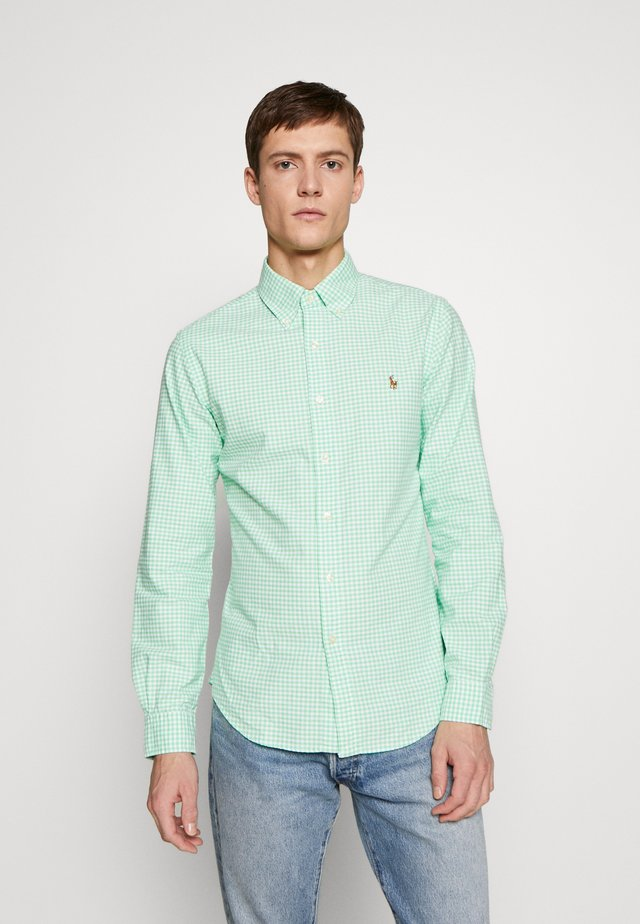 OXFORD SLIM FIT - Overhemd - lime/white