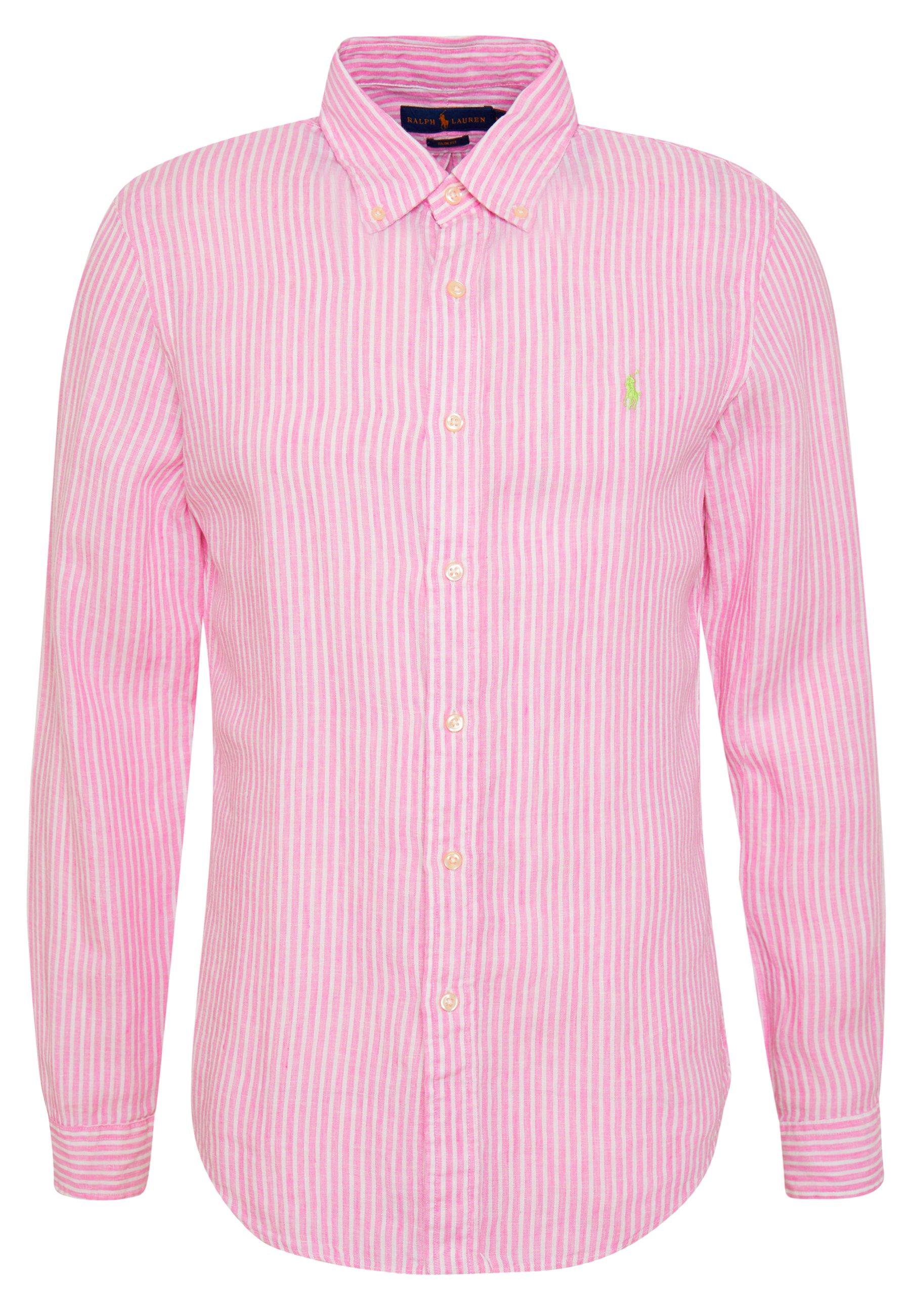 Polo Ralph Lauren Stripe Slim Fit - Chemise Pink/white bTcUANF