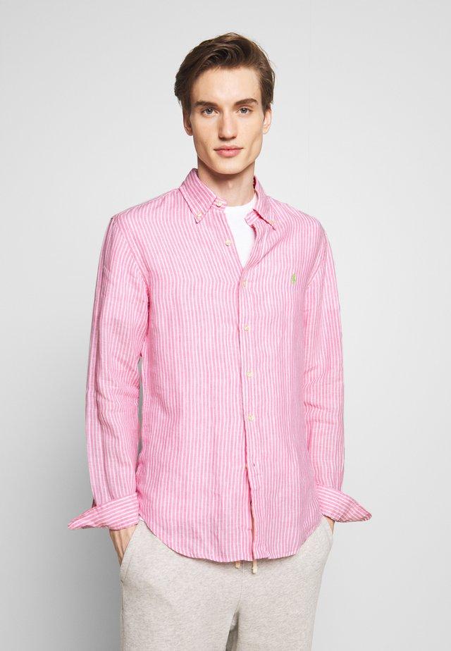STRIPE SLIM FIT - Camicia - pink/white