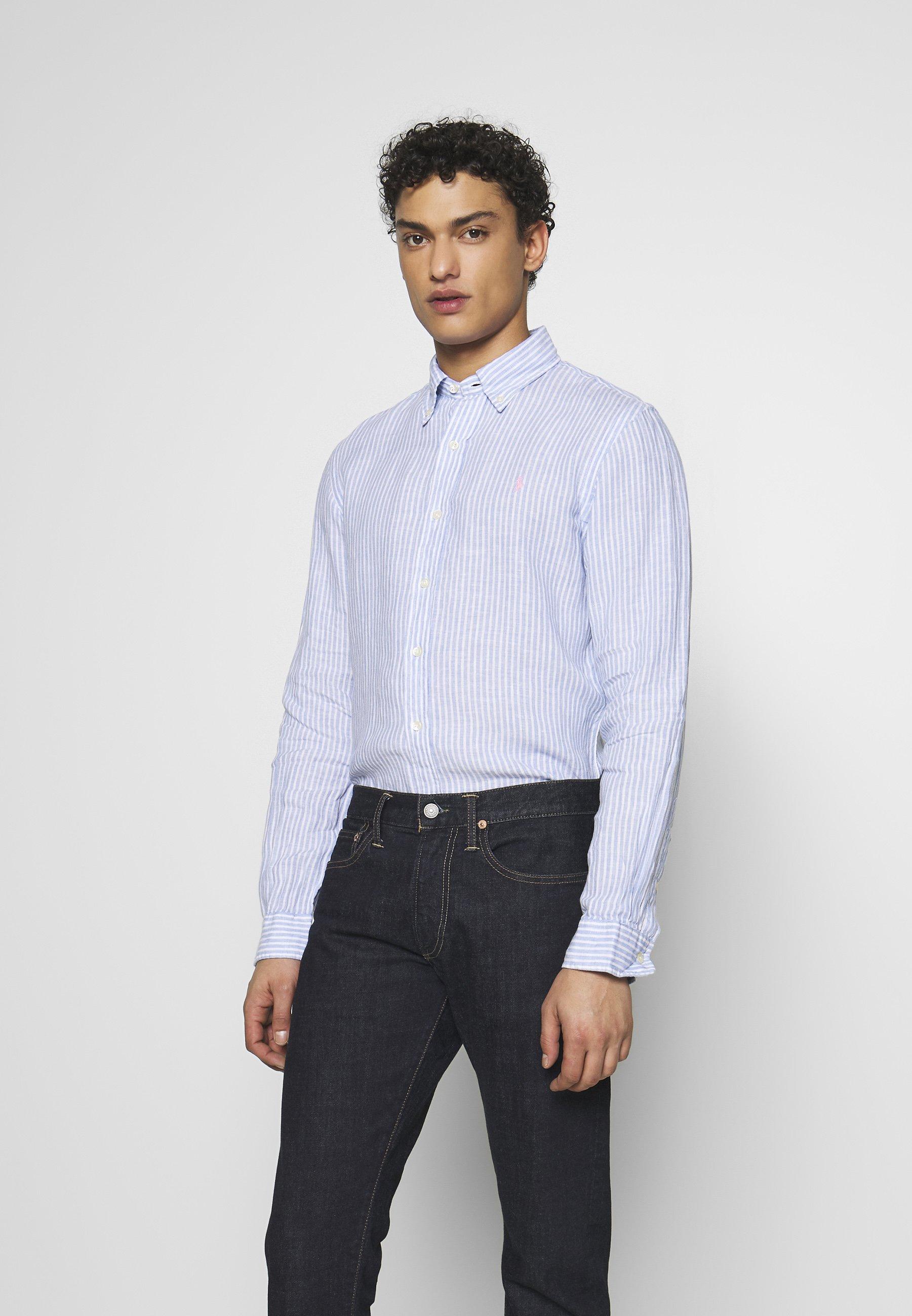 Polo Ralph Lauren Stripe Slim Fit - Chemise Blue/white