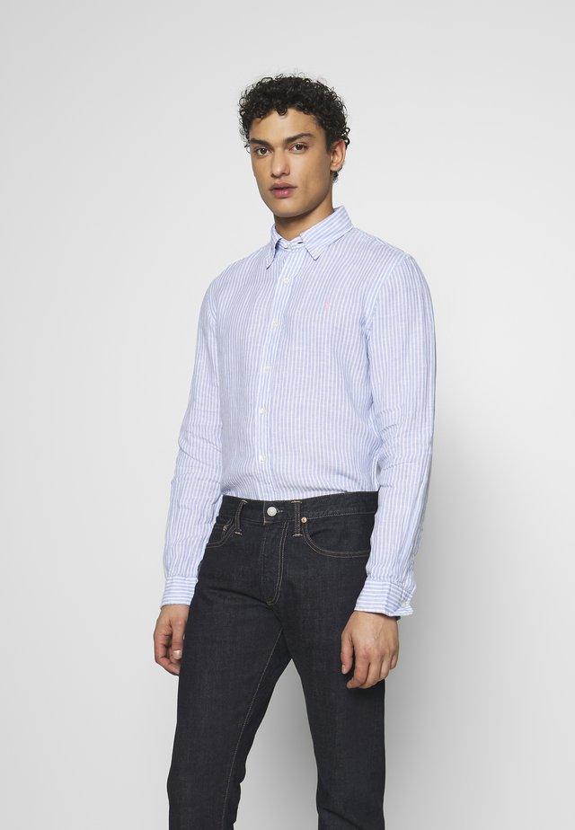 STRIPE SLIM FIT - Camicia - blue/white