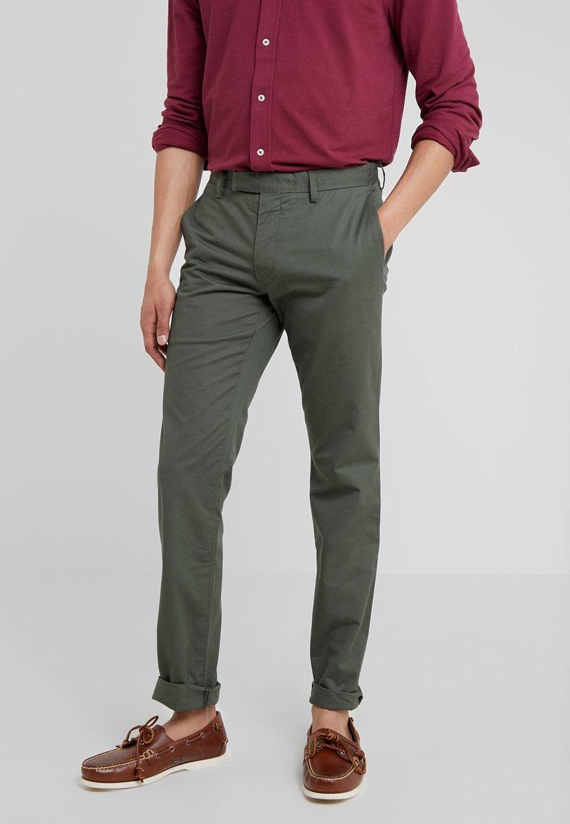 Polo Ralph Lauren - FLAT PANT - Kangashousut - angler green