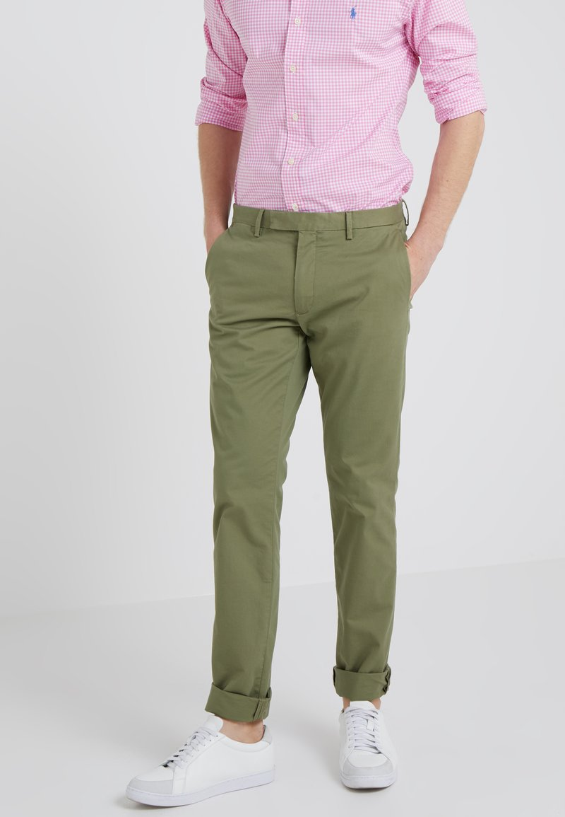 Polo Ralph Lauren - FLAT PANT - Tygbyxor - spanish green