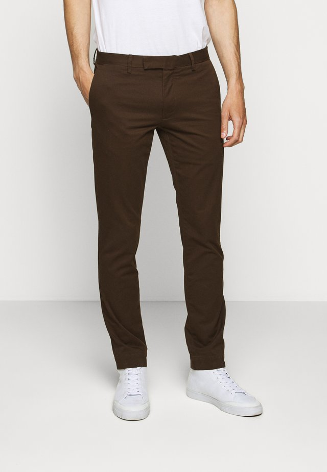 FLAT PANT - Tygbyxor - mohican brown