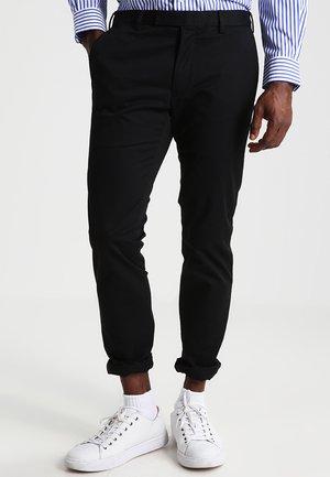 FLAT PANT - Pantalon classique - polo black