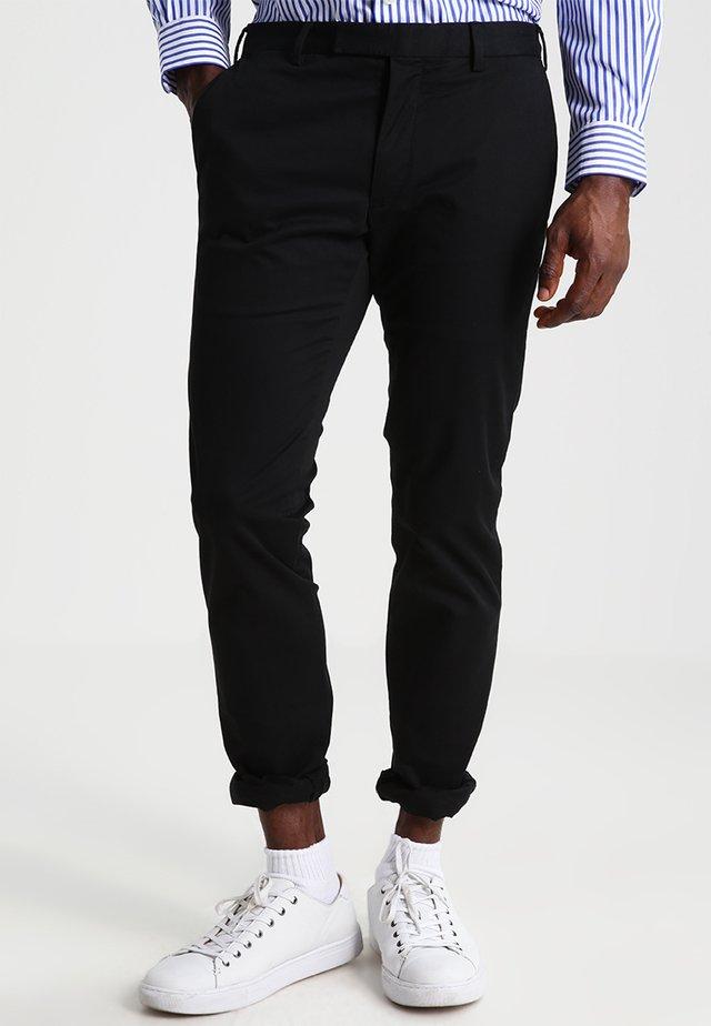 FLAT PANT - Pantaloni - polo black