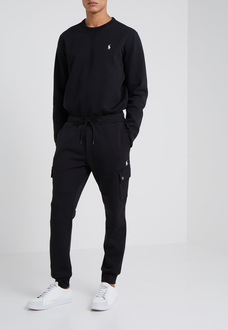 Polo Ralph Lauren - DOUBLE TECH - Tracksuit bottoms - black