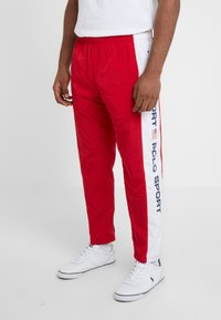 Polo Ralph Lauren - PULL UP PANT - Pantaloni sportivi - red/pure white - 0