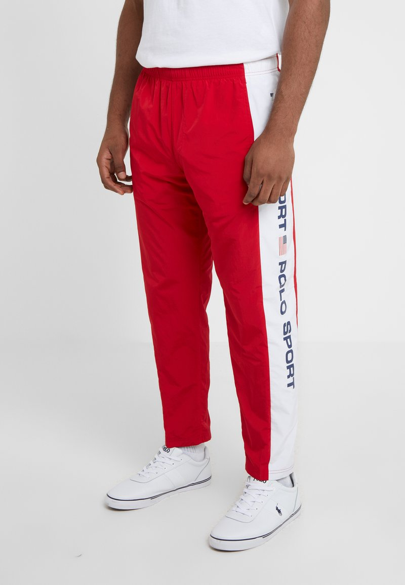 Polo Ralph Lauren - PULL UP PANT - Jogginghose - red/pure white