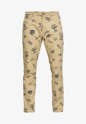 SLIM FIT BEDFORD PANT - Pantalones - luxury tan