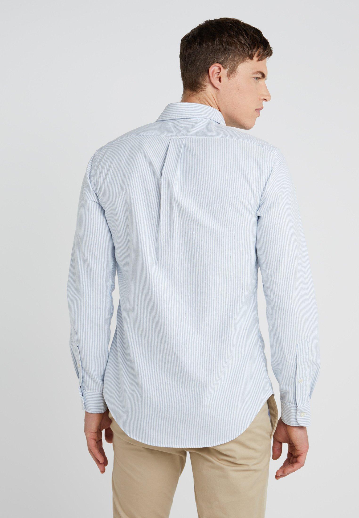 Polo Ralph Lauren Slim Fit - Camicia Blue/white 505zV