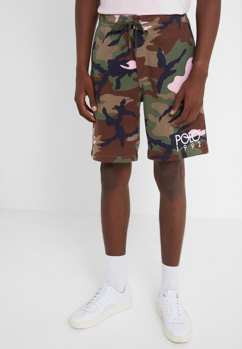 Polo Ralph Lauren - MAGIC - Tracksuit bottoms - olive/pink