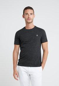 Polo Ralph Lauren - SHORT SLEEVE - T-shirts - black marl heather - 0