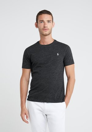 SLIM FIT - T-shirt basic - black marl heather