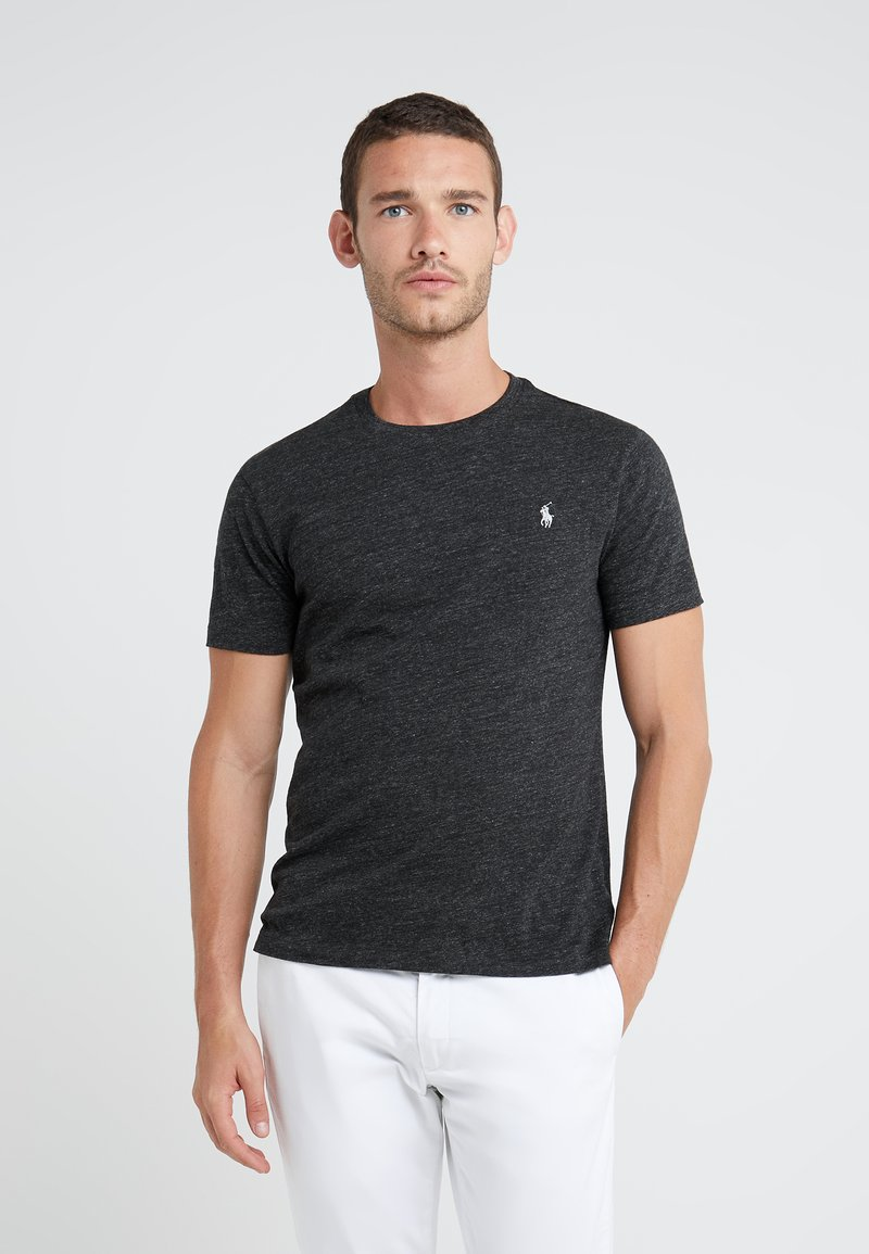 Polo Ralph Lauren - SHORT SLEEVE - T-shirts - black marl heather