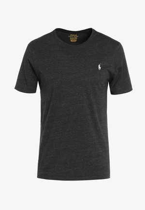 SLIM FIT - Camiseta básica - black marl heather