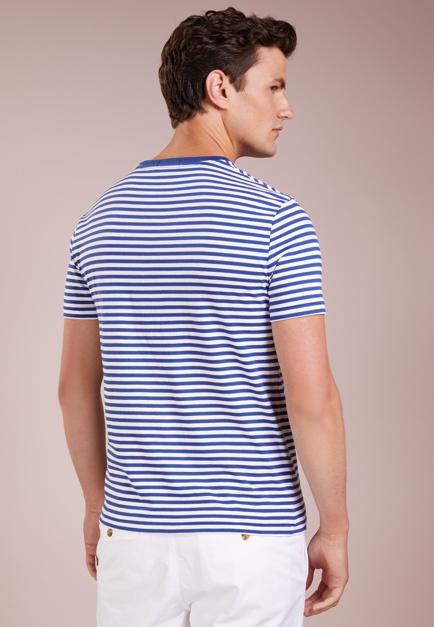 Lauren T Ralph Shirt blue white Polo annapolis print 43LqAj5R