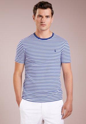 Print T-shirt - annapolis blue/white