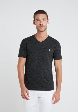 Basic T-shirt - black marl heather