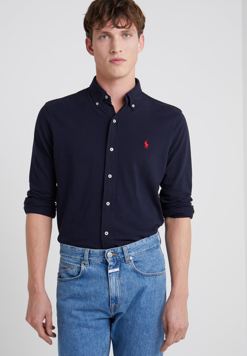 Polo Ralph Lauren - FEATHERWEIGHT  - Shirt - aviator navy/red
