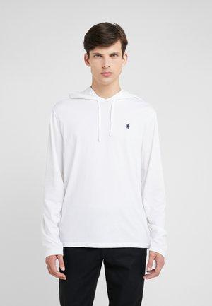 Hoodie - white/navy