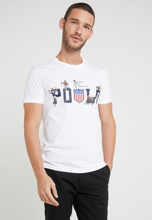 SLIM FIT - T-shirt con stampa - white