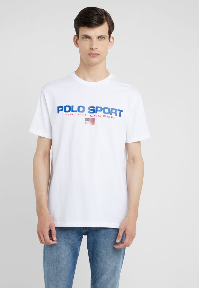 POLO SPORT - Print T-shirt - white