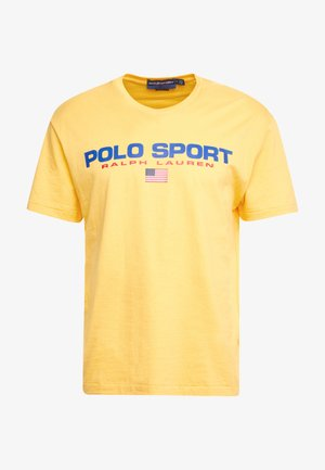 POLO SPORT - T-shirt z nadrukiem - chrome yellow