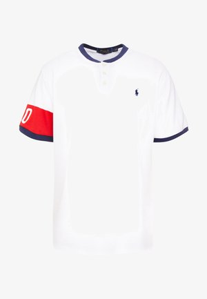 Basic T-shirt - white/red