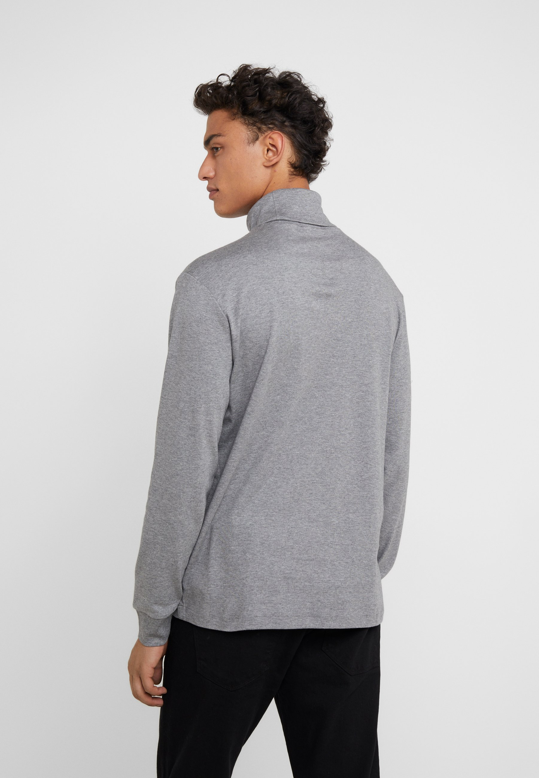 Polo Soft Heather shirt Boulder Grey TouchT Manches Longues Lauren À Ralph eCxodBr