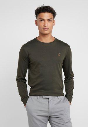 Langærmede T-shirts - estate olive