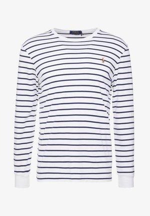 T-shirt à manches longues - white/french navy