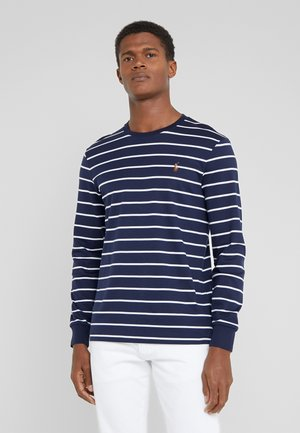 Langarmshirt - french navy/white