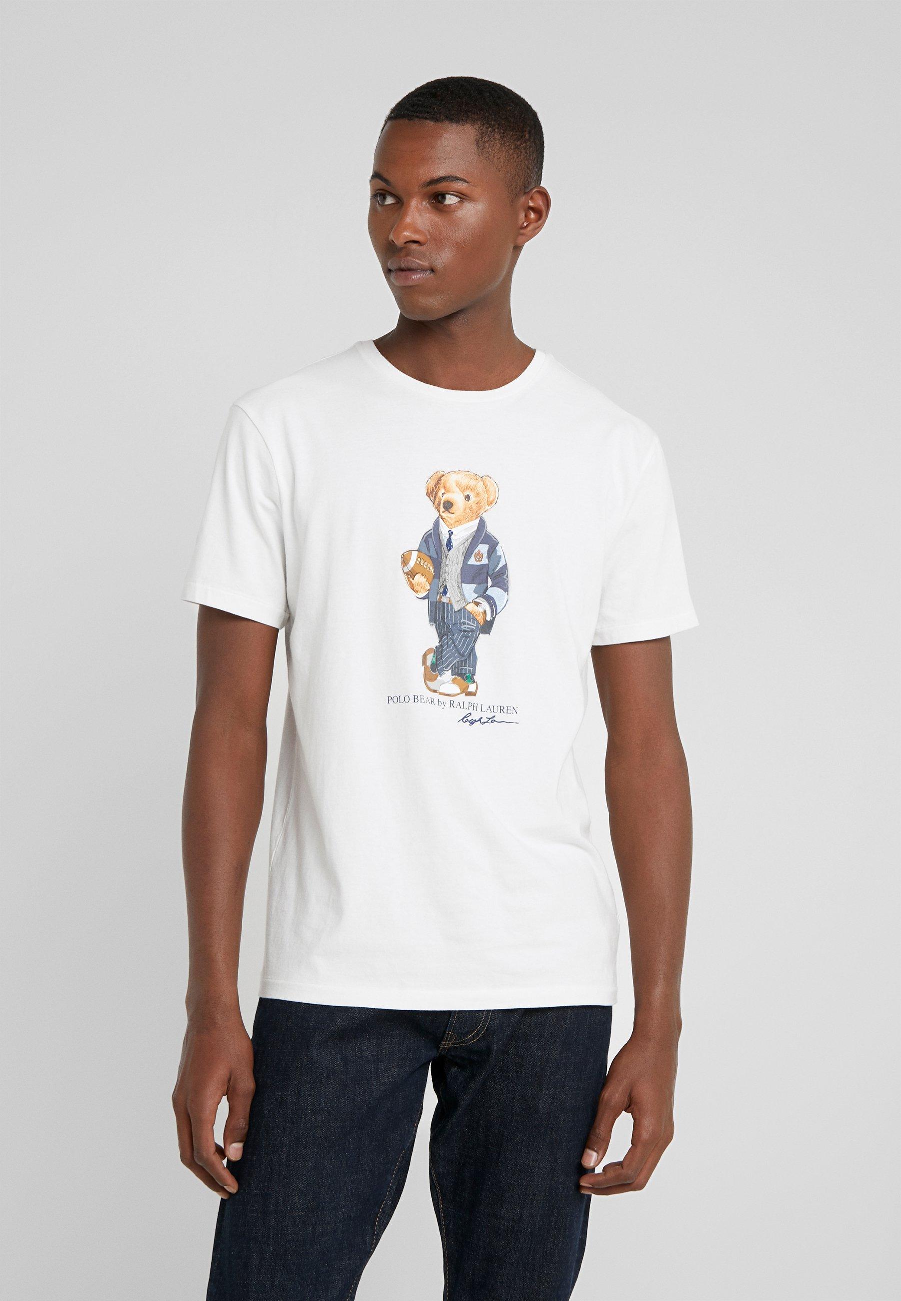 Polo Ralph Lauren T-shirt z nadrukiem - deckwash white