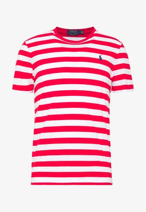 T-shirts print - red/white