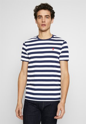 Print T-shirt - french navy/white