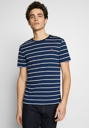 SOFT TOUCH - T-shirt print - french navy/white