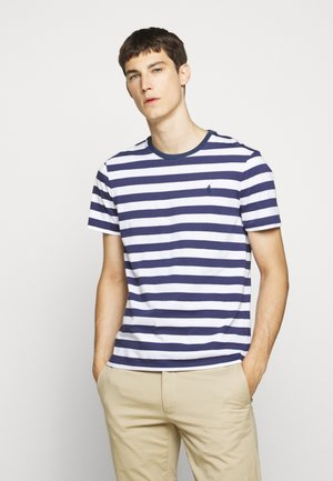T-shirt con stampa - navy/white