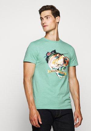 Print T-shirt - bayside green