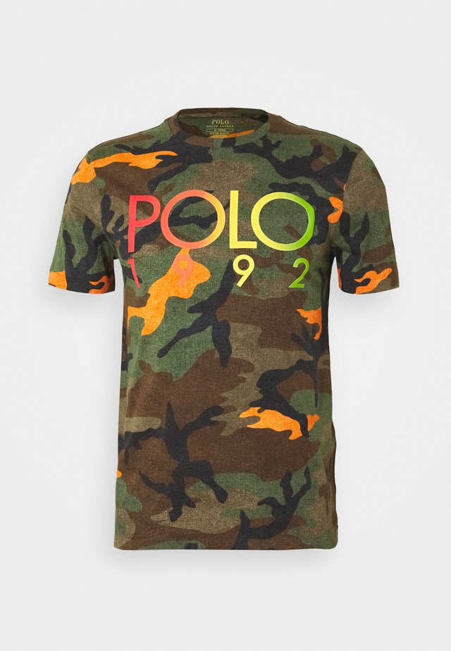 Print T-shirt - southern orange