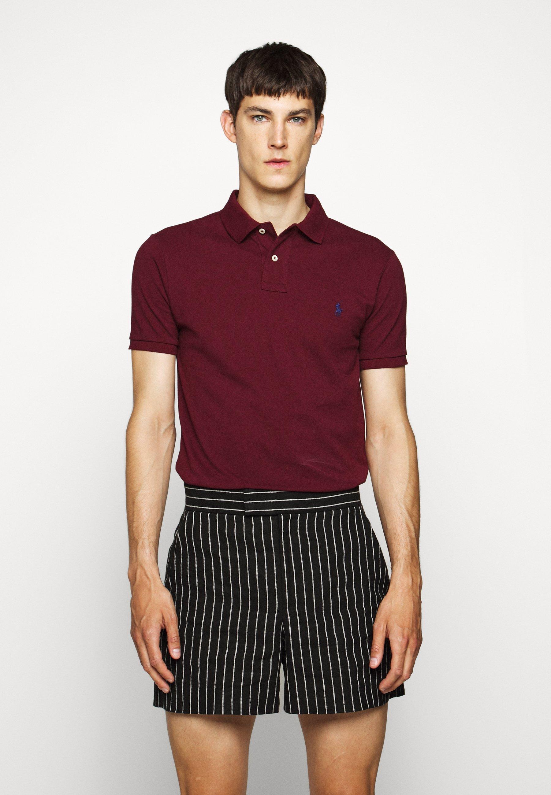 Polo Ralph Lauren SLIM FIT MODEL - Koszulka polo - classic wine - Odzież męska Tani