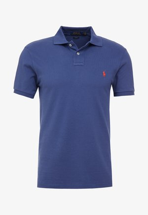 Poloshirt - light navy/red
