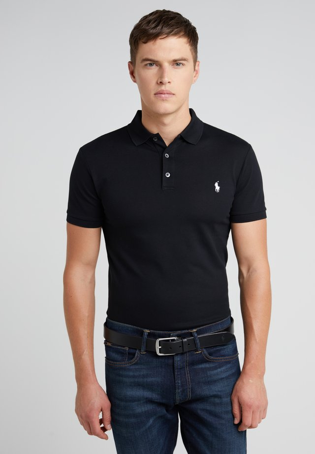 SLIM FIT MODEL - Polo - black