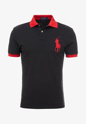 SLIM FIT - Poloshirt - black