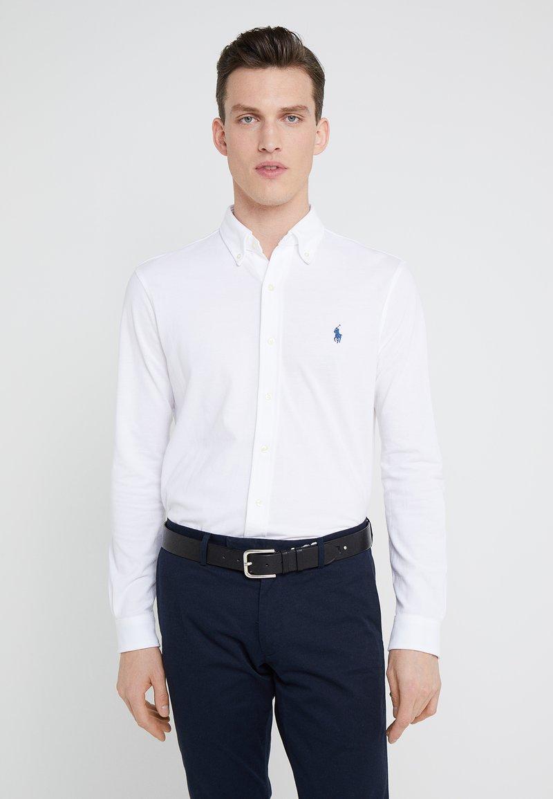 Polo Ralph Lauren - LONG SLEEVE - Vapaa-ajan kauluspaita - white