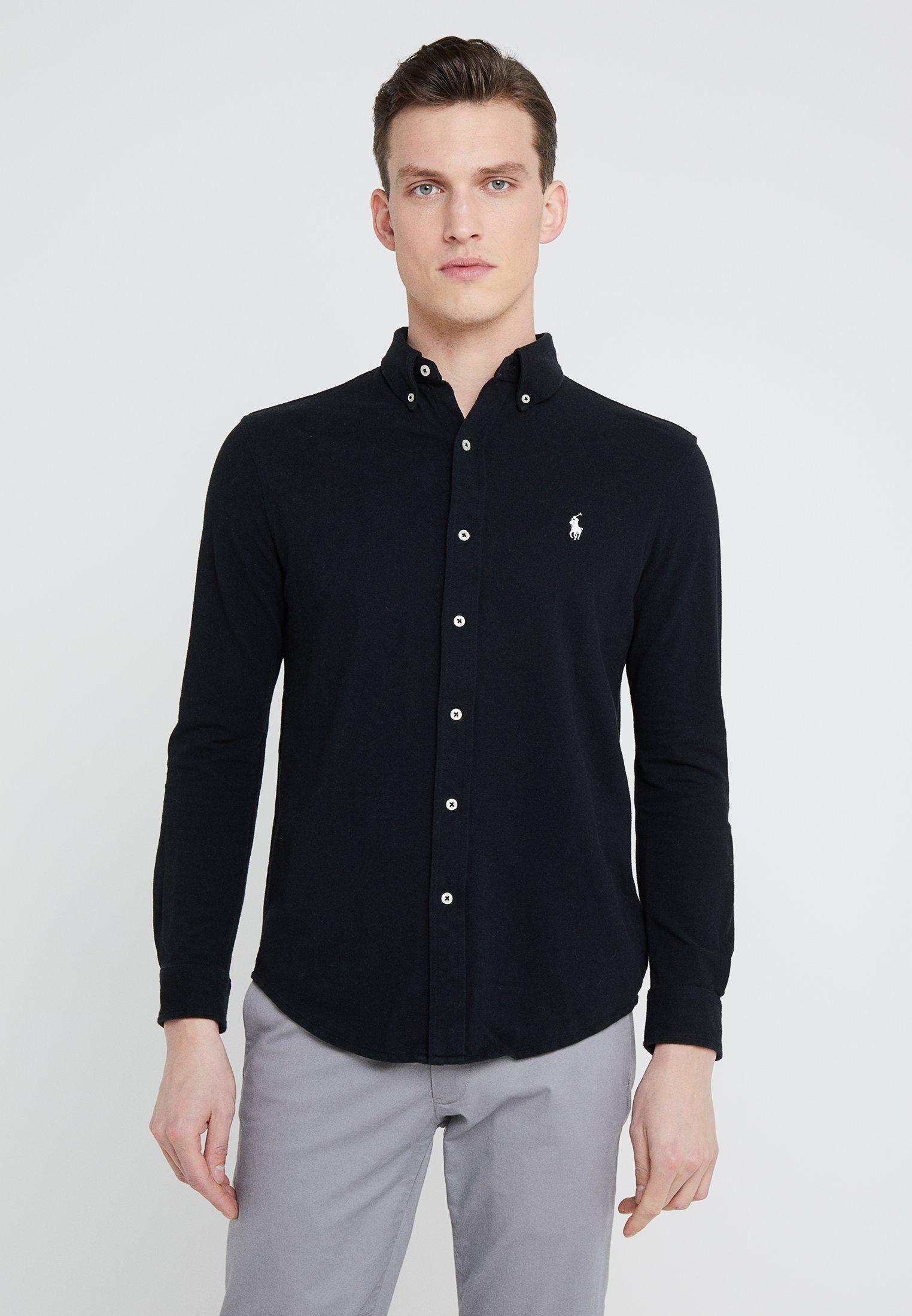 SleeveChemise Long Black Ralph Lauren Polo 5q3LjAR4c